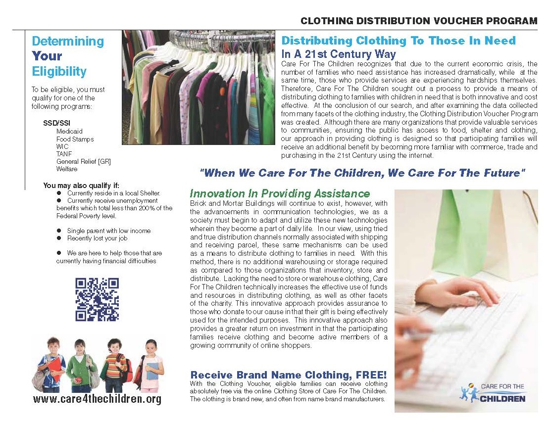 Clothing Voucher Program Brochure
