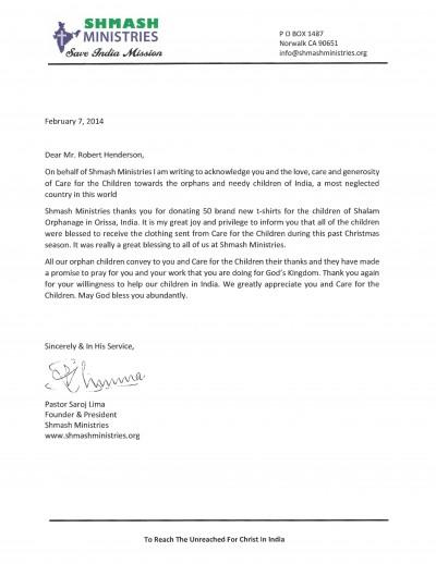 SHMASH Letter