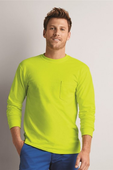 Ultra Cotton? Long Sleeve T-Shirt with a Pocket