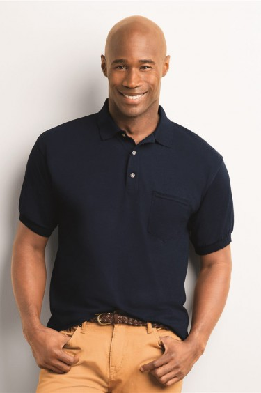 DryBlend? Jersey Sport Shirt with a Pocket